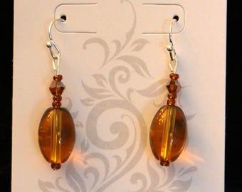 Beautiful Amber Drop Earrings
