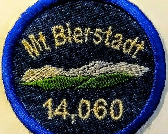 Fer du Colorado Fourteener Mt Bierstadt sur l'insigne mérite de patch