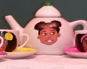 Baby Girl Hand-Painted Porcelain Customized Tea Set