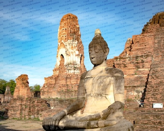 Buddhist Temple Ruins Photograph Print