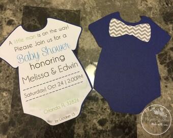 Babyshower onsie invites invitations