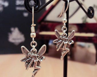 Earrings fairy - silver - 4 cm