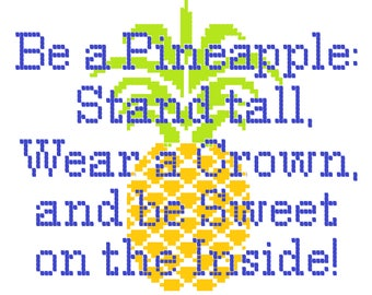 Pineapple Quote Cross Stitch Pattern