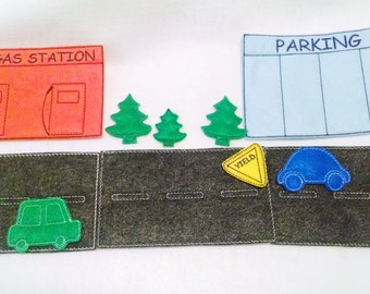 Car felt flannel board set includes 13 pieces great for quiet books or busy bags #80ACT
