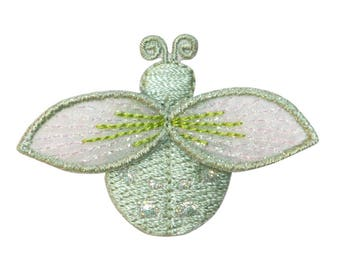 ID 1616H Ladybug Fly Patch Garden Beetle Insect Bug Embroidered Iron On Applique