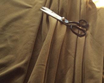 Light Moss Green (Olive) Colour, Cotton Dressmaking Velvet / Veleveteen. 112cms wide, 240gsm. Short Pile