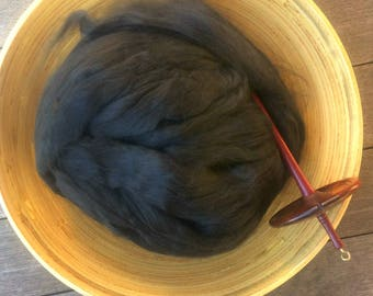 Black Bamboo Top Roving Spinning Fiber - 4 ounces