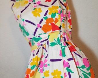 FREE  SHIPPING   1960  Cotton Mod  Maxi  Dress