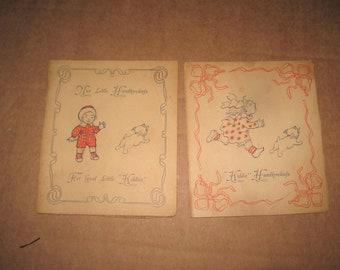 Nice Little Kiddie Handkerchiefs cards   lot of 2   [c5035o]