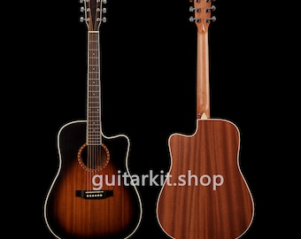 41 inch Acoustic / Solid Paulownia top / Sapele back and sides/ Acoustic guitar (GTS-907)