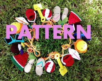Summer Fun CROCHET Garland/Bunting PATTERN, Summer Banner, Summer Bunting, Summer Garland, Home Decor, Summer Decor, Crochet Pattern, DIY