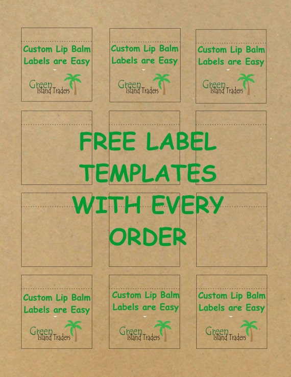 Customizable Lip Balm Labels Sheets Labels Kraft Brown - Lip balm label template