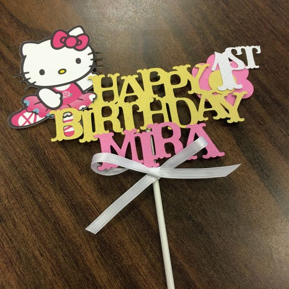 Hello Kitty Cake Topper Hello Kitty Centerpiece Hello Kitty