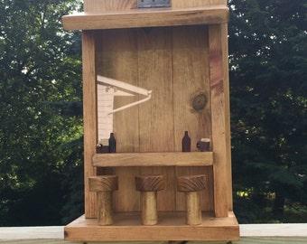 Wood Saloon, Handmade Bird Feeder, Father's Day Gift, Hanging Garden Accessory