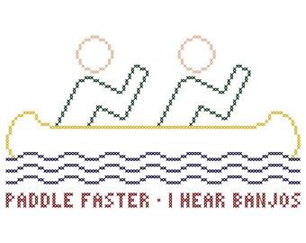 Paddle Faster - Original Cross Stitch Chart