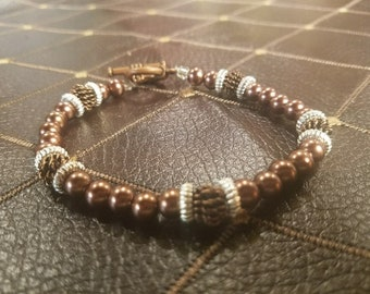 Bronze and Silver Bracelet