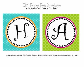 PRINTABLE Party Banner - Celebrate - INSTANT DOWNLOAD