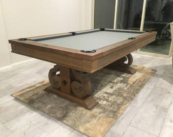 Barnstable 7u0027 Or 8u0027 Pool Table   Dining Top Option Available