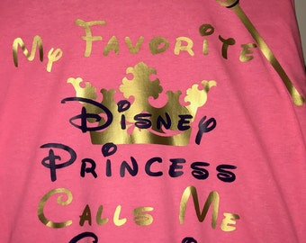 favorite disney princess grandmother shirt