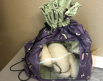 Peek-a-boo Large Knitting Project Bag