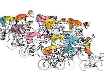 Cycling Print 'Pelatoon Stage 06'