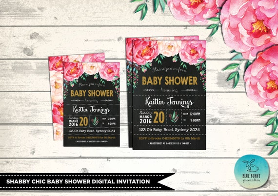 Baby shower invitation watercolor floral baby shower invites filmwisefo Images