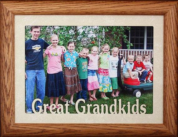 5x7 JUMBO ~ GREAT GRANDKIDS Photo Frame ~ Holds a 5x7 Photo ~ Gift ...