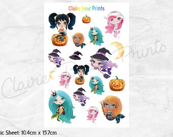HALLOWEEN MERMAIDS Planner Stickers