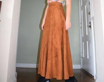 70's Microsuede Skirt