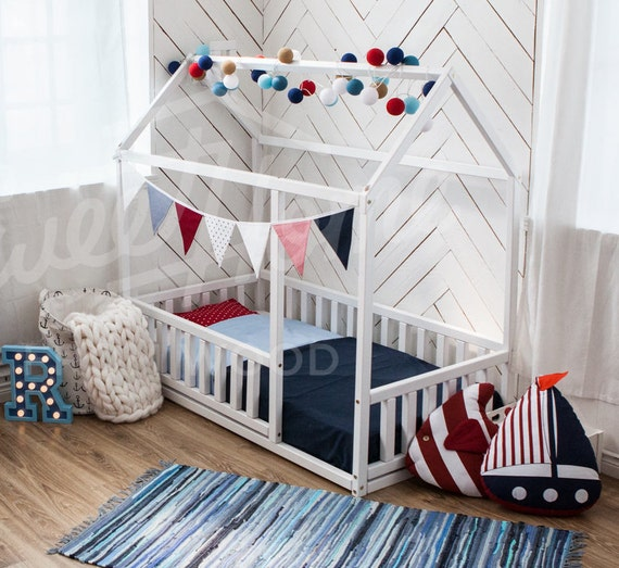 Toddler bed twin size baby bed children bed montessori for Lit montessori