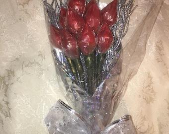 One Dozen Hershey Kiss Roses