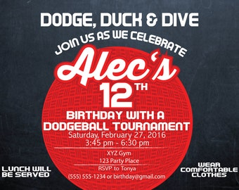 Dodgeball Invitation