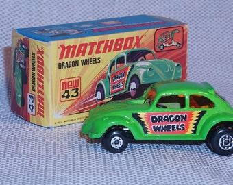 1972 Matchbox Dragon Wheels #43 MIB made in England