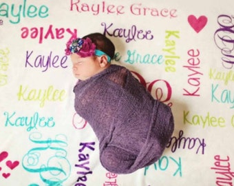 Personalized baby blanket baby girl blanket name blanket for personalized baby blanket monogrammed baby blanket name blanket swaddle receiving blanket baby shower gift photo prop birth announcement negle Gallery