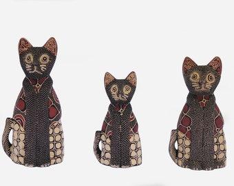 Batik Cat Figurine