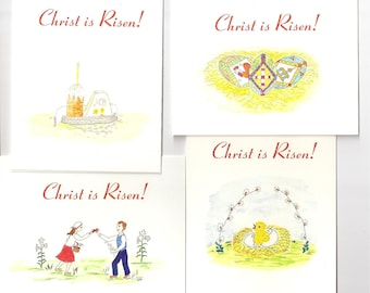 A box of 12 Pascha/Easter cards. Mix and match as you like