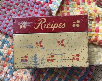 There Are Loads Of Recipes In This Vintage Recipe Shabby Tin