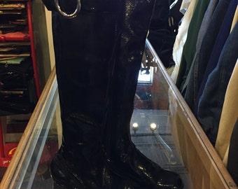 Deadstock women's 1970s vinyl go-go boots size 5