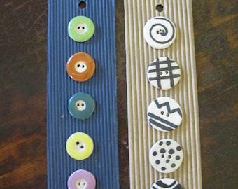 handmade fun pottery buttons