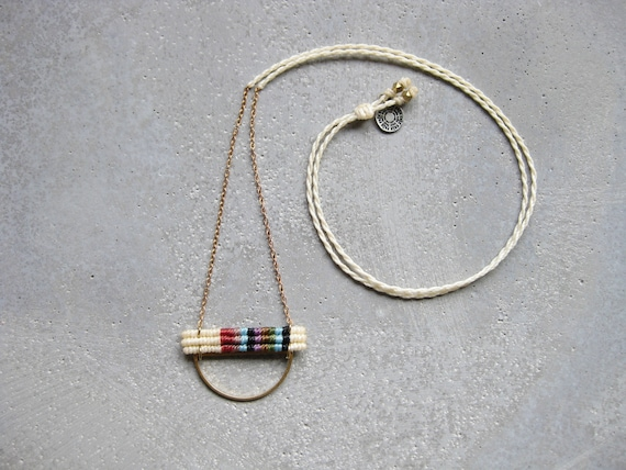 K A L Y A N I Necklace . Modern and Minimalist Macrame Jewelry © Design by .. raïz ..