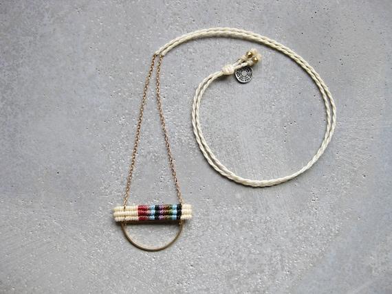 K A L Y A N I Necklace . Modern and Minimalist Macrame Jewelry © Design by .. raïz ..