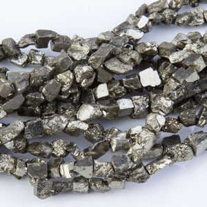 Pyrite Raw Nugget Gemstone Beads, Stones for Beading, Gemstone Beads, Beads for Necklace, Rock Nuggets, Pyrite Raw Nugget Gemstone, GS19RK