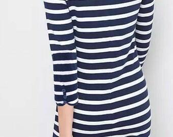 SABINE- 3/4 Sleeve Boatneck Dress