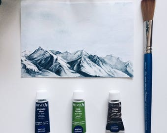 Custom Mountains, Nature, Forest Painting
