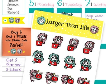 Youtube Stickers Youtube Planner Stickers Cute Stickers Scrapbook Stickers School Stickers