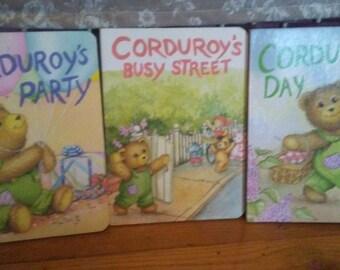 Childrens board corduroy books  total three
