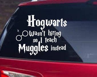 Harry Potter teacher car decal