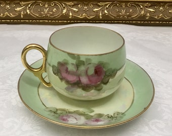 Union K Teacup and saucer made in Czochoslovakia