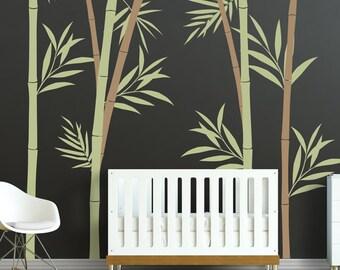 Bamboo Wall Decal - Bamboo Stalks Nursery Wall Decals WAL-2108