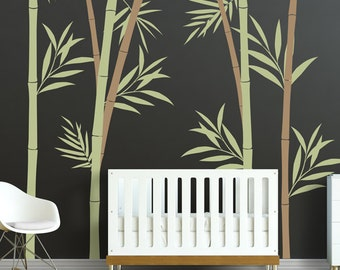 Great Bamboo Wall Decal   Bamboo Stalks Nursery Wall Decals WAL 2108